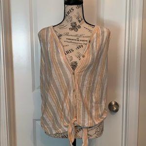 Rachel Zoe Size medium linen top